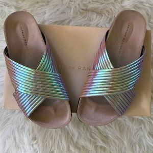 Loeffler Randall Iridescent Leather Sandals